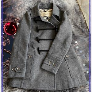 Authentic Burberry toggle wool pea coat